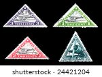 world postage stamps with... | Shutterstock . vector #24421204