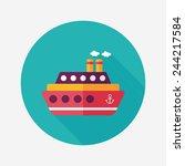 transportation ferry flat icon... | Shutterstock .eps vector #244217584