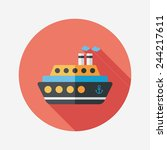 transportation ferry flat icon... | Shutterstock .eps vector #244217611
