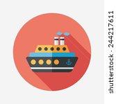 transportation ferry flat icon... | Shutterstock .eps vector #244217611