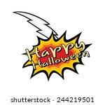halloween retro vector banner | Shutterstock .eps vector #244219501