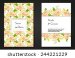 abstract flower background with ... | Shutterstock . vector #244221229