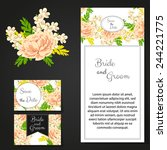 wedding invitation cards with... | Shutterstock .eps vector #244221775