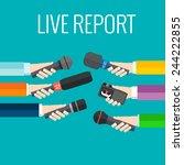 journalism concept vector   set ... | Shutterstock .eps vector #244222855