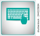 keyboard vector icon | Shutterstock .eps vector #244225834