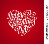 hand drawn phrase happy... | Shutterstock .eps vector #244230454