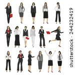 collection business people... | Shutterstock .eps vector #244232419