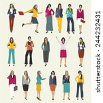 collection business people... | Shutterstock .eps vector #244232431