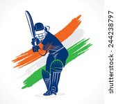 abstract cricket player design... | Shutterstock .eps vector #244238797