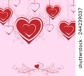 happy valentines day greeting... | Shutterstock .eps vector #244239037