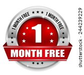 red one month free badge with...