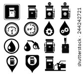 pump  gas station icons.vector | Shutterstock .eps vector #244242721