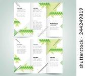 brochure design template vector ... | Shutterstock .eps vector #244249819