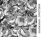 gentle spring monochrome... | Shutterstock .eps vector #244272604