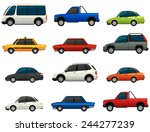 set of vehicles on a white... | Shutterstock .eps vector #244277239