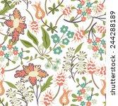 seamless floral pattern    Shutterstock .eps vector #244288189