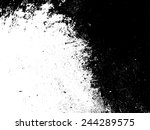 grunge black and white distress ... | Shutterstock .eps vector #244289575