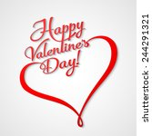 valentines card with  lettering.... | Shutterstock .eps vector #244291321