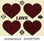 vector valentine's day design... | Shutterstock .eps vector #244297594