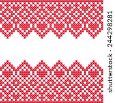 cross stitch pattern with... | Shutterstock .eps vector #244298281