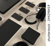 mock up business template | Shutterstock . vector #244298419