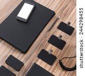 mock up business template | Shutterstock . vector #244298455