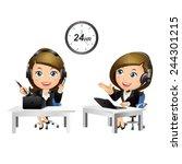 people set   business   women....   Shutterstock .eps vector #244301215