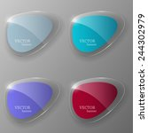 glass framework set. vector... | Shutterstock .eps vector #244302979
