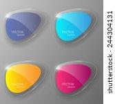 glass banner set. vector... | Shutterstock .eps vector #244304131
