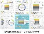 big set for business template ... | Shutterstock .eps vector #244304995