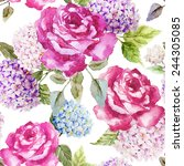 Hydrangea  Roses  Flowers ...