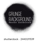 black ink vector spray stains | Shutterstock .eps vector #244319539