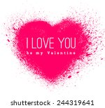 vector spray stains. valentines ... | Shutterstock .eps vector #244319641