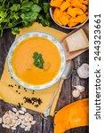 pumpkin soup | Shutterstock . vector #244323661