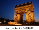 arc de triomphe  paris france | Shutterstock . vector #2443280