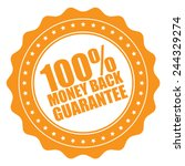 orange 100  money back... | Shutterstock . vector #244329274