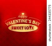 valentine's day golden badge... | Shutterstock .eps vector #244335775