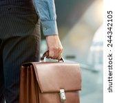 closeup of a businessman... | Shutterstock . vector #244342105
