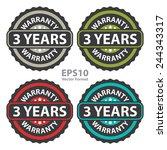 3 years warranty on vintage ... | Shutterstock .eps vector #244343317