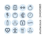 set of simple icons for health... | Shutterstock .eps vector #244345885