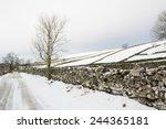 Snowy Road In Wensleydale