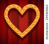 vector marquee heart symbol... | Shutterstock .eps vector #244365661