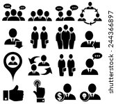 business and people icons.... | Shutterstock .eps vector #244366897