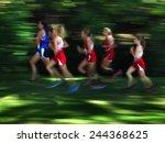 view of several women runners... | Shutterstock . vector #244368625