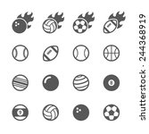 ball icons set. | Shutterstock .eps vector #244368919