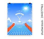 vector illustration of a poster ... | Shutterstock .eps vector #244377961