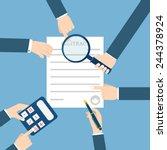 preparation business contract. | Shutterstock .eps vector #244378924