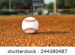 baseball on infield | Shutterstock . vector #244380487