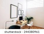 modern creative workspace.    Shutterstock . vector #244380961