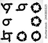 set of vector circular arrows .  | Shutterstock .eps vector #244383325